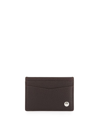 Boston Leather Card Case, Brown