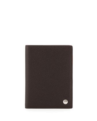 Boston Leather Passport Holder, Brown