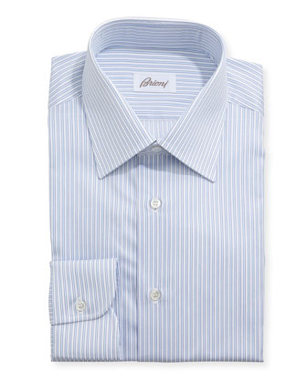 Grand Tube Stripe Shirt, White/Blue