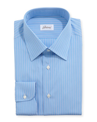 Grenadine Aqua Stripe Dress Shirt, Blue