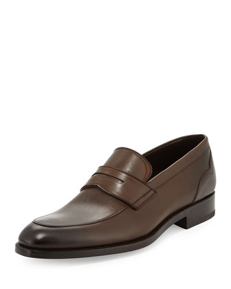 Calfskin Penny Loafer, Brown