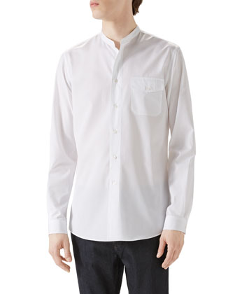 Duke White Poplin Shirt