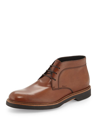 Malik Calfskin Chukka Boot, Brown