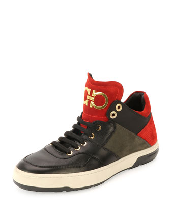 Monroe Low-Top Sneaker, Red/Black