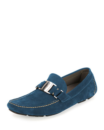 Sardegna 9 Unlined Suede Vara Driver, Blue