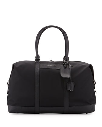 Nylon Logo Duffel Bag, Black
