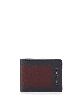Colorblock Bi-Fold Wallet, Bordeaux