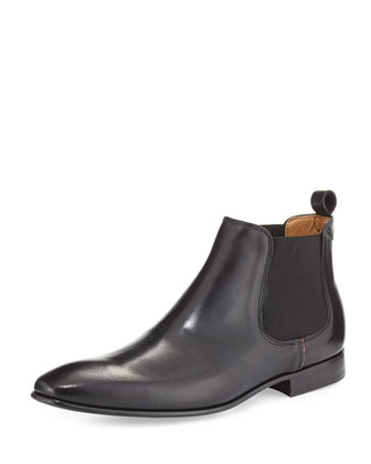 Leather Chelsea Boot, Black