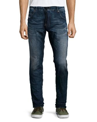 V-Neck Tee with Denim Pocket & Krooley 0600 Jogger Denim Jeans