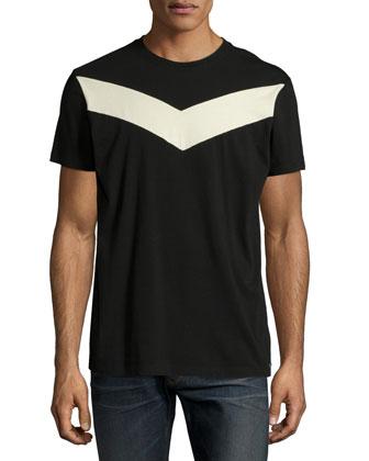Digital-Print Short-Sleeve Tee, Black