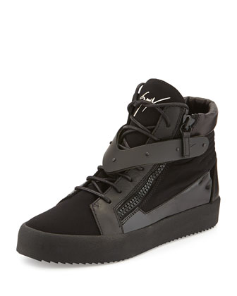 Men's Paneled High-Top Sneaker