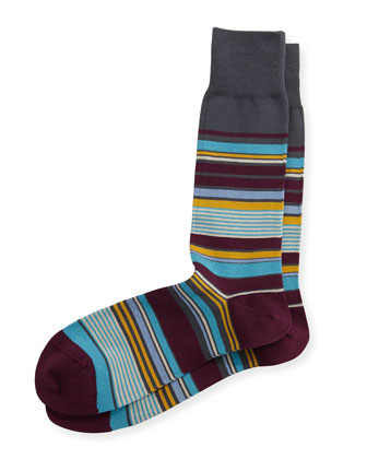 Nautical Stripe Socks, Gray