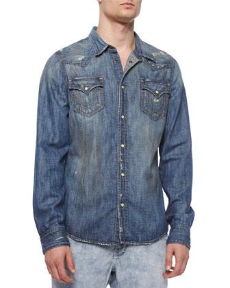 Jake Western-Style Denim Shirt