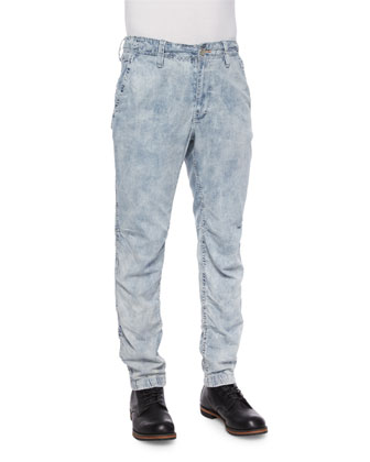 Oasis Tie-Dye Denim Jeans, Rough Tide