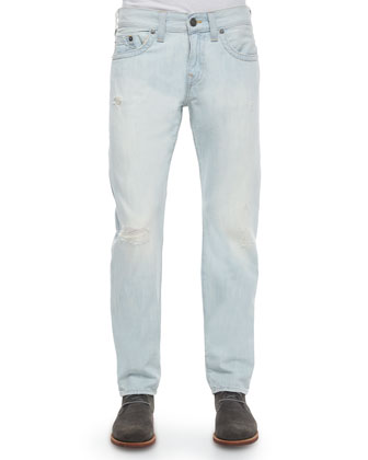 Geno Light Washed Denim Jeans, Coastal Waves