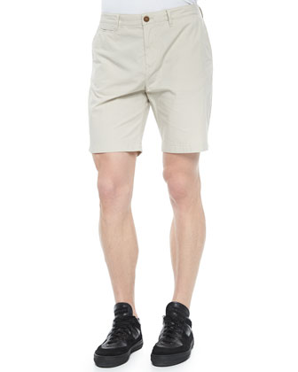 Cotton Chino Shorts, Stone
