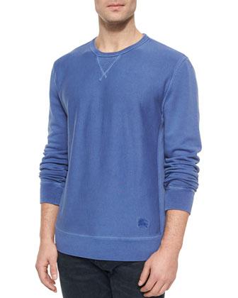Equestrian Knight Crewneck Sweatshirt, Blue