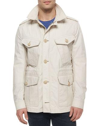 Fulforth Cotton Field Jacket, Light Stone
