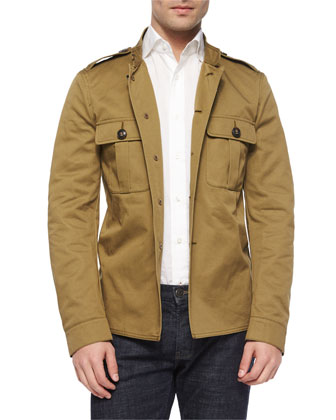 Tarrant Knit Military Jacket, Khaki