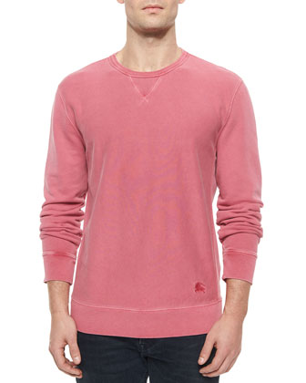 Equestrian Knight Crewneck Sweatshirt, Berry