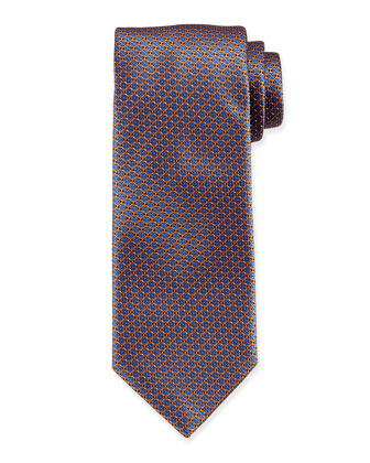 Circle Neat Silk Tie, Orange