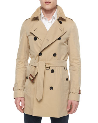 Britton Double-Breasted Trenchcoat, Honey