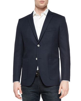 Wellar PA Wulfert Two-Button Blazer, Navy