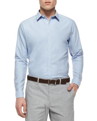Zack PS Wickett Solid Long-Sleeve Shirt, Light Blue