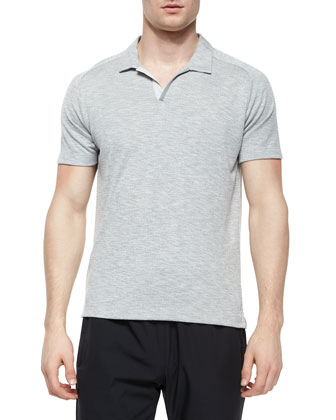Esra Jersey-Knit Polo Shirt, Dark Gray