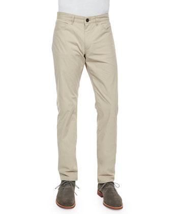 Haydin Durward Straight-Leg Pants, Beige