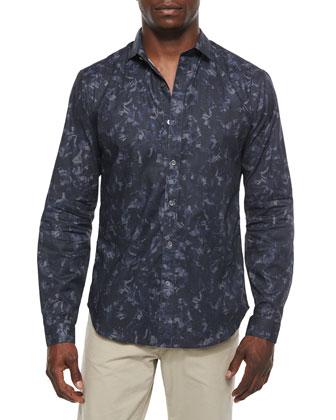 Wilten Long-Sleeve Shirt in Gladiola-Print