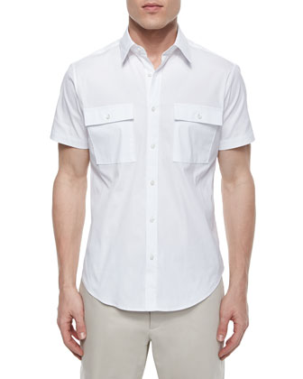 Feynold S Short-Sleeve Shirt, White