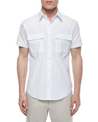 Feynold S Short-Sleeve Shirt, White