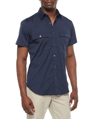 Feynold S Short-Sleeve Shirt, Navy
