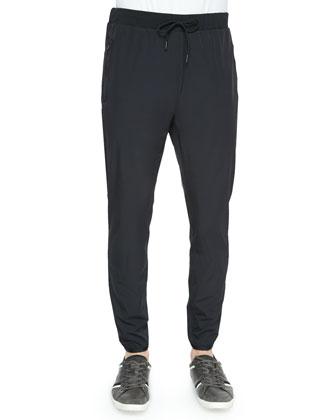 Damire Bevan Nylon Jogger Pants, Black