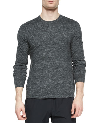 Andre Crewneck Sweater, Silver