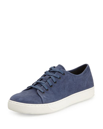 Austin Nubuck Leather Low-Top Sneaker, Cobalt Blue
