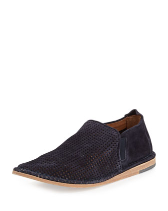 Nico Perforated Slip-On Shoe, Navy