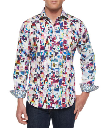 Magical Island Color-Splash Sport Shirt, Multi