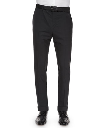Tropical Weight Wool Trousers, Gray