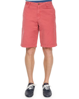 Solid Vintage Woven Shorts, Rose