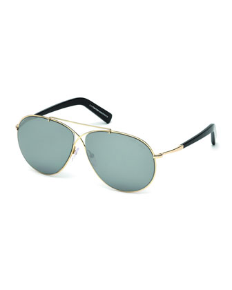 Eva Lightweight Sunglasses, Rose Gold