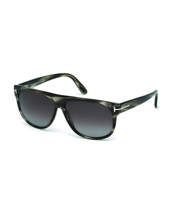 Kristen Polarized Square Sunglasses, Gray