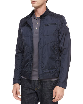 Donatien Nylon Jacket, Navy