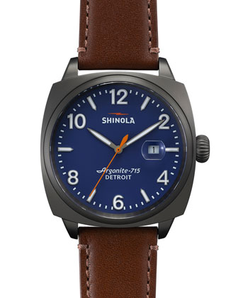 46mm Brakeman Watch, Brown/Gunmetal