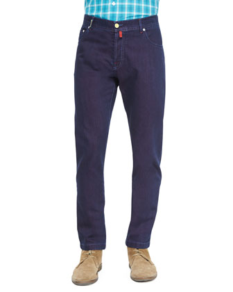 Solaro Dark-Wash Denim Jeans