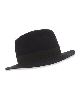 Burt Fedora Hat, Blue/Black