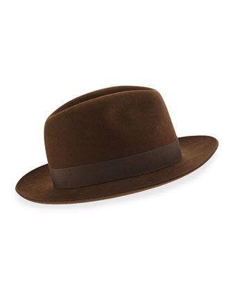 Burt Fedora Hat, Chocolate