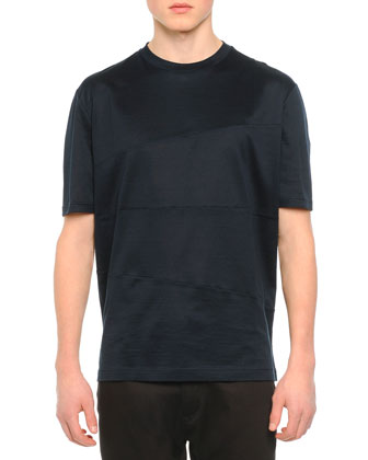 Knit Asymmetric Seam T-Shirt