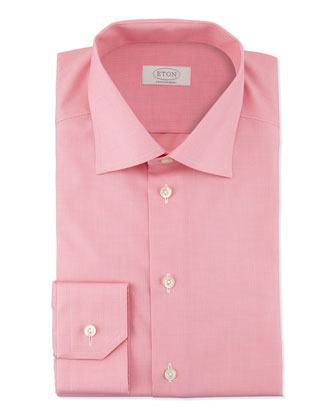 Contemporary-Fit Micro-Check Dress Shirt, Pink